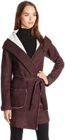 Sanctuary Women's Fleece Blanket Wrap Coat