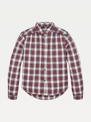 Tommy Hilfiger Metallic Plaid Check Shirt
