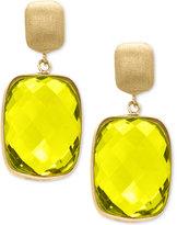 Effy Lemon Quartz Drop Earrings (20-1/2 ct. t.w.) in 14k Gold