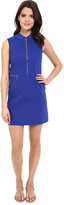 Lacoste L!ve Sleeveless Zip Front Collar Dress