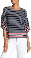 Max Studio Striped Bell Sleeve Tee
