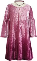 My Michelle Big Girls 7-16 Ombre Velvet A-Line Dress