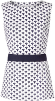 Diane von Furstenberg Payton Textured Cotton Peplum Top