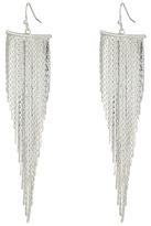 Kenneth Jay Lane Polished Silver Fringe Fishhook Earrings Earring