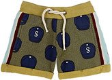 Scotch Shrunk CAP-PRINT COTTON FRENCH TERRY SHORTS-GREEN, NAVY, NO COLOR SIZE 10