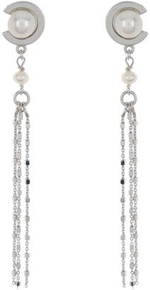Carolee Freshwater Pearl Multi-Strand Rosary Chain Drop Earrings