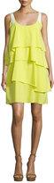 Maiyet Layered Silk Slip Dress, Lime