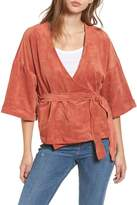 Tularosa Rory Faux Suede Wrap Top