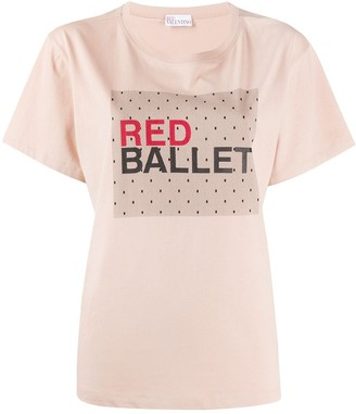 RED Valentino red ballet print T-shirt