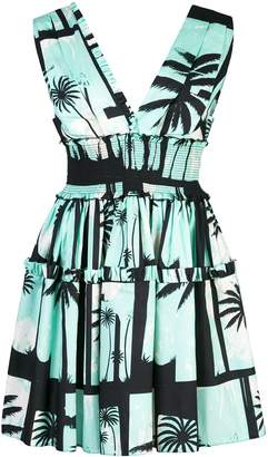 Fausto Puglisi palm tree print dress