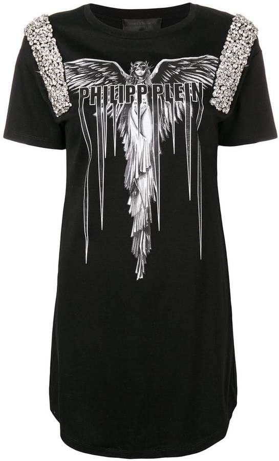 Philipp Plein Angel T-shirt dress