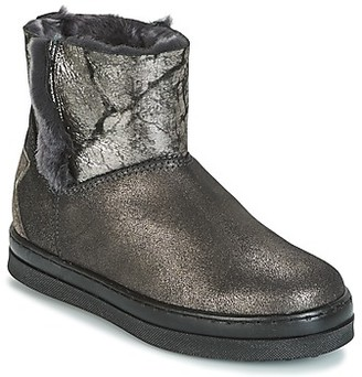 Unisa FIS girls's Mid Boots in Silver