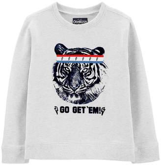Osh Kosh Oshkosh Boys Round Neck Long Sleeve Graphic T-Shirt - Preschool