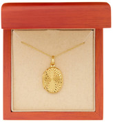 Argentovivo 18K Gold Plated Sterling Silver Oval Swirl Front Locket Necklace
