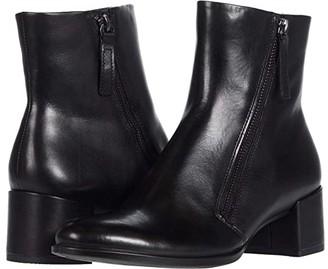 Ecco Shape 35 Block Side Zip Bootie (Black) Women's Boots