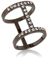 RJ Graziano Clear Crystal Pave Ring