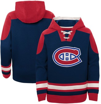 Outerstuff Youth Navy Montreal Canadiens Ageless Must-Have Lace-Up Pullover Hoodie
