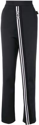 GCDS striped loose track trousers