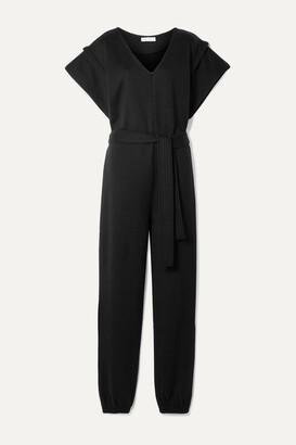 Ninety Percent + Net Sustain Belted Organic Cotton-jersey Jumpsuit