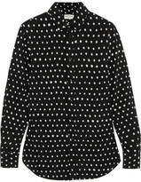 Saint Laurent Polka-dot Crepe De Chine Shirt - Black