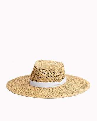 Rag & Bone Open weave wide brim hat