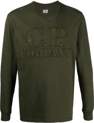 C.P. Company logo applique long-sleeve T-shirt