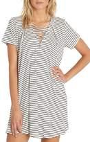 Billabong Long Ago Lace-Up T-Shirt Dress