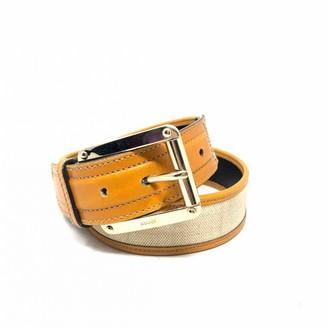 Gucci Orange Cloth Belts