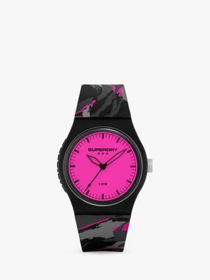 Superdry Women's Camo Pop Silicone Strap Watch