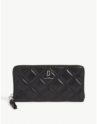 Marc Jacobs Logo quilted leather continental wallet