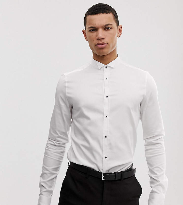 1be0814589 Asos White Men's Longsleeve Shirts - ShopStyle