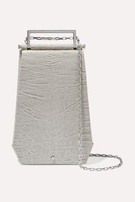 Maison Etnad - Eloine Lizard-effect Leather Shoulder Bag - Gray