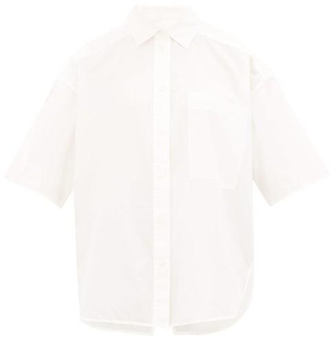 Lee Mathews - Workroom Short-sleeved Cotton-poplin Shirt - Womens - White
