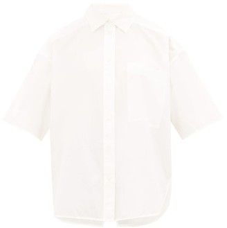 Lee Mathews - Workroom Short-sleeved Cotton-poplin Shirt - Womens - White