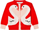 Stella McCartney Red Swan Lauren Cardigan