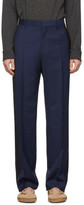 Lanvin Navy Wool Mohair Trousers