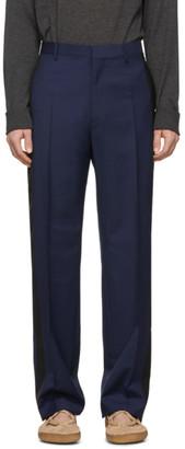 Lanvin Navy Wool Mohair Trousers