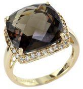 EFFY COLLECTION 14Kt. Yellow Gold Smoky Quartz & Diamond Ring