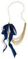 J.Crew Women's Chain Link Silk Tie Necklace