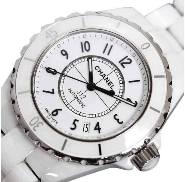 Chanel J12 H0970 Ceramic & Stainless Steel Automatic 38mm Mens Watch
