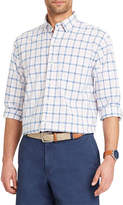 Izod Newport Oxford Long Sleeve Plaid Button-Front Shirt