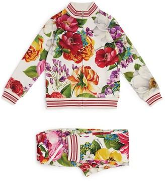 Dolce & Gabbana Kids Floral Print Tracksuit Set (2-6 Years)