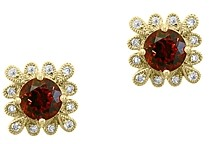 Bloomingdale's Garnet & Diamond Stud Earrings in 14K Yellow Gold - 100% Exclusive