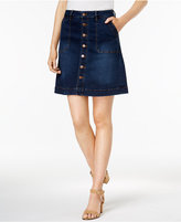 Jag Florence Button-Front Denim Skirt