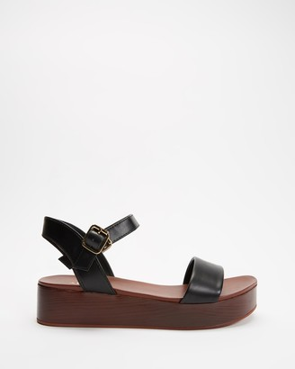 Aldo Women's Black Sandals - Cobbswell Ankle Strap Sandals - Size 6 at The Iconic