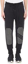 Y-3 Men's Knee-Patch Sweatpants-Black Size Xl