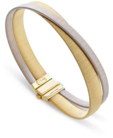 Marco Bicego Masai Two-Strand 18K Yellow & White Gold Crossover Bracelet