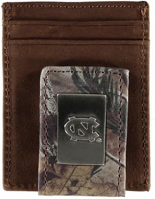 Men's North Carolina Tar Heels Front Pocket Camo Wallet