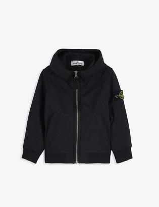 Stone Island Logo patch hooded shell jacket 4-14 years