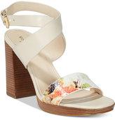 Cole Haan Fenley Strappy Block-Heel Sandals
